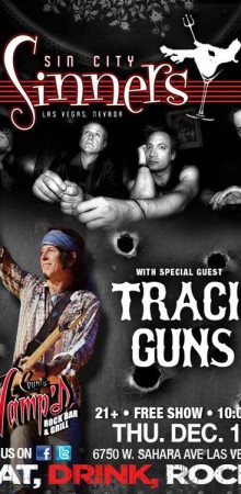 Tracii Guns and Phil Lewis Reunite for one Show for Charity in Vegas with The Sin City Sinners!